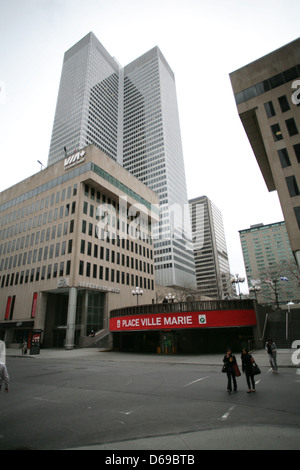 Place Ville Marie in downtown Montreal, Quebec. - Stock Photo