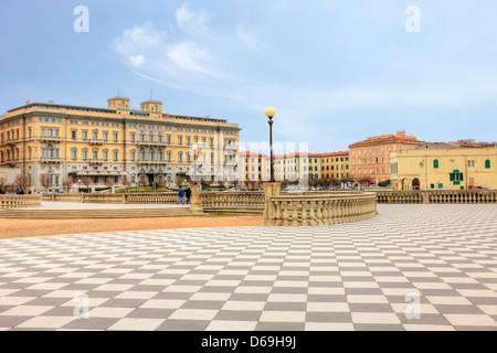 Livorno, Terrazza Mascagni, Tuscany, Italy - Stock Photo