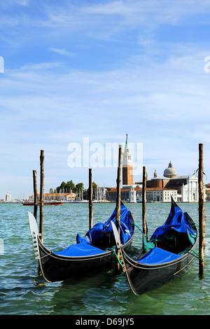 gondola,venice,san giorgio maggiore - Stock Photo