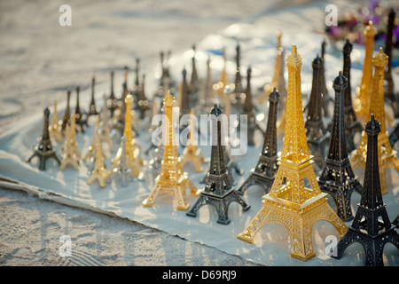 Eiffel Tower replicas for sale - Stock Photo