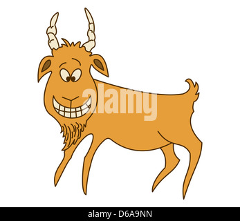 Cheerful red goat - Stock Photo