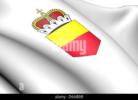 Liechtenstein Coat of Arms. Close Up. - Stock Photo