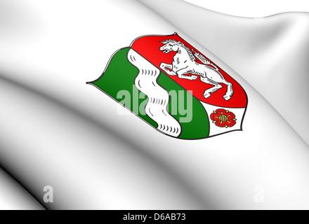 North Rhine-Westphalia coat of arms - Stock Photo