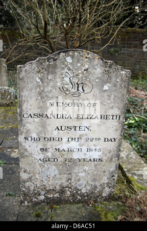 The grave of Cassandra Elizabeth Austen (9 January 1773 – 22 March 1845 was an amateur English water colourist. - Stock Photo