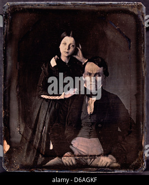 Couple Portrait, Daguerreotype, Circa 1850's - Stock Photo