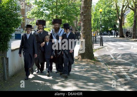 London, UK, ultra-Orthodox Jews in Hackney - Stock Photo