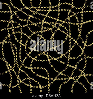 Gold chain seamless vector background. - Stock Photo
