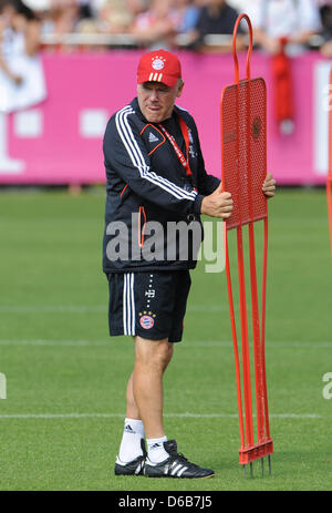 Co-trainer of Bundesliga soccer club Bayern Munich Hermann Gerland prepares a training session at Saebener Strasse - Stock Photo