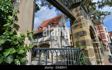 View of the house where Martin Luther was born in Eisleben, Germany, 23 August 2012. The new Luther archive will - Stock Photo