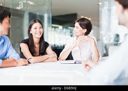 Business people talking in meeting - Stock Photo