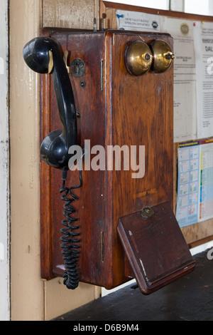 Signal Box Telephone - Stock Photo
