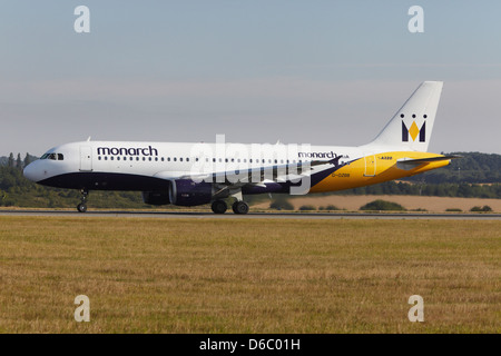 Monarch Airlines Airbus A320-212 taking off - Stock Photo