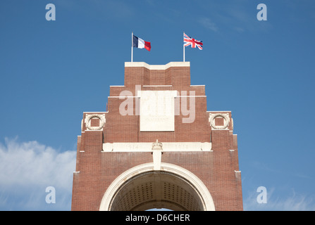 The Thiepval Memorial, the Memorial to the Missing of the Somme, France. Designed by Sir Edwin Lutyens. - Stock Photo