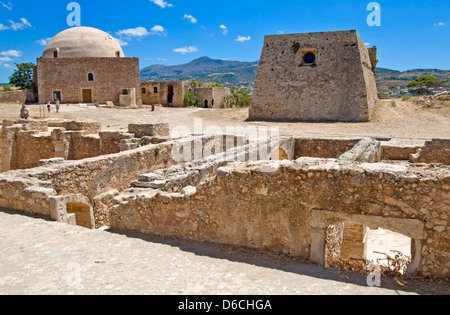 Rethymno, Crete, Greece. Fortress or Fortezza (16thC) Domed Mosque - Stock Photo