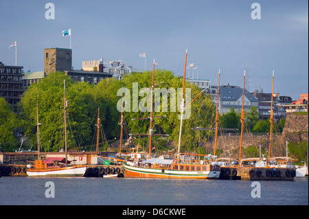 sailboats in the harbour, Oslo, Norway, Scandinavia, Europe - Stock Photo