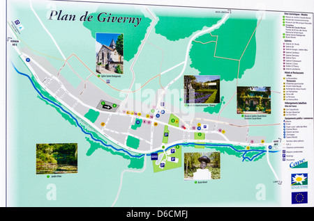 Map Of France Giverny.Map Of Eure France Stock Photo 209969509 Alamy