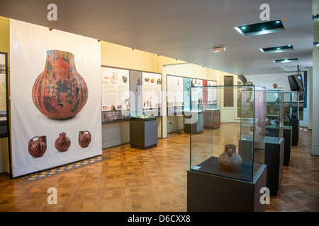 Cultural exhibit at History Museum in Temuco, Chile - Stock Photo