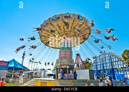 Carnival Rides at a local county fair , in upstate NY, Hudson Valley - Stock Photo