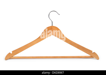Wooden Clothes Hanger - Stock Photo
