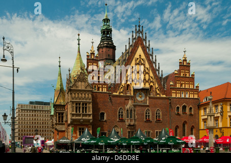 City Hall, Wroclaw, Poland - Stock Photo