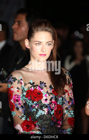 US actress Kristen Stewart arrives at the premiere of 'On The Road' during the Toronto International Film Festival - Stock Photo