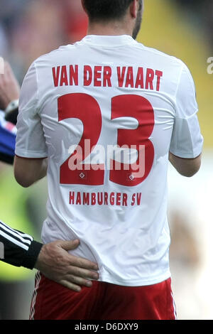Hamburg's Rafael van der Vaart during the German Bundesliga soccer match between Eintracht Frankfurt and Hamburger - Stock Photo