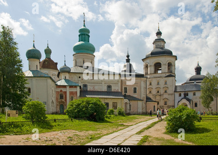 Assumption Cathedral, Kirillo-Belozersky Monastery, Kirillov, Russia - Stock Photo