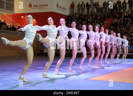 Television ballet of MDRGerman broadcasters performs during the opening of the MBS Arena in in Potsdam, Germany, - Stock Photo