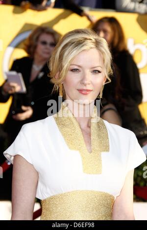 US actress Gretchen Mol attend the 18th Annual Screen Actor's Guild - SAG - Awards at Shrine Auditorium in Los Angeles, - Stock Photo