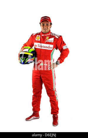 An undated handout picture released by the Ferrari Press Office on 03 February 2012 shows Brazilian Ferrari pilot - Stock Photo