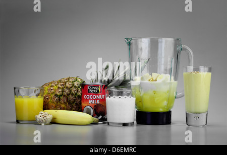 Pineapple and Coconut smoothie/ Pina Colada  smoothie - Stock Photo