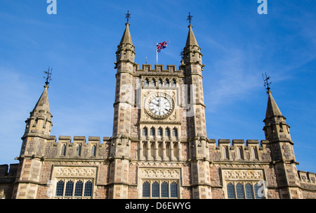 Temple Meads railway station serves the City of Bristol UK - Stock Photo