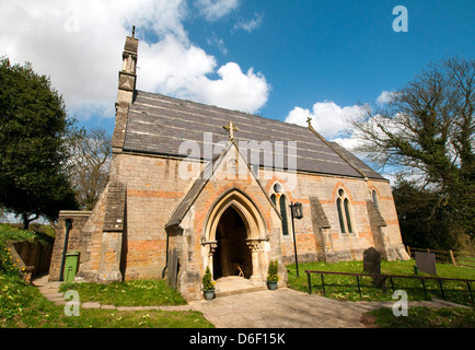 Spring at the Holy Trinity Church in Bulcote, Nottinghamshire England UK - Stock Photo