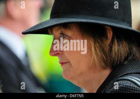 London, UK. 17th April, 2013. Harriet Harman at Margaret Thatcher's funeral at St Paul's Cathedral. - Stock Photo