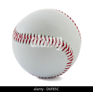 Baseball ball on the white background