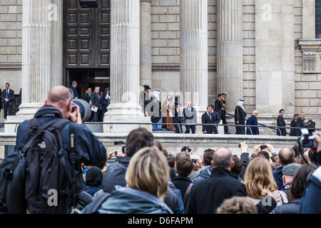 London, UK. 17th April, 2013. Funeral of Baroness Thatcher, London. - Stock Photo
