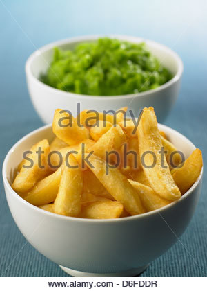 Chips and Peas - Stock Photo