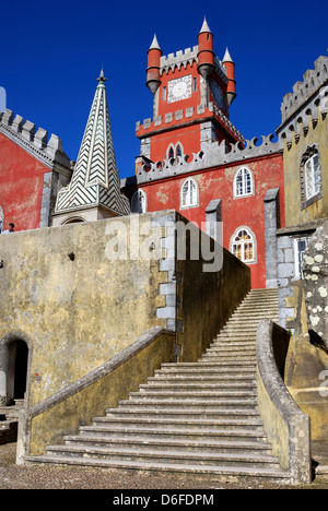 Pena Palace in Sintra, Portugal - Stock Photo