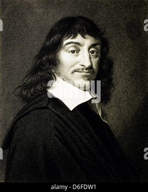 Rene Descartes (1596-1650), French Philosopher and Mathematician, Portrait, 1648 - Stock Photo