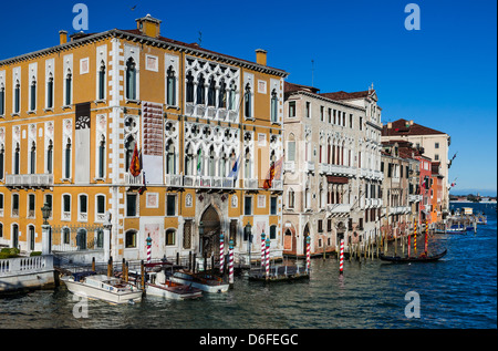 Grand Canal is one of the most popular attractions of Venice city in Italy, Mediterranean Sea - Stock Photo