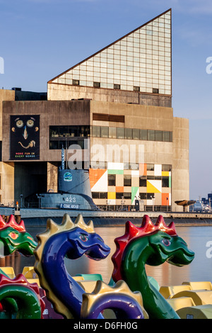 National Aquarium at Inner Harbor of Baltimore, Maryland - Stock Photo