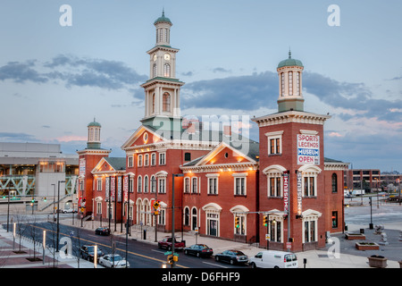 Sports Legends Museum, Baltimore, Maryland, in former B and O station, stands next to Orioles Park at Camden Yards - Stock Photo