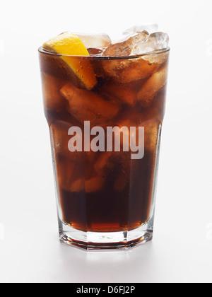 Coca Cola in glass - Stock Photo