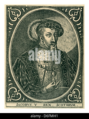 James V (10 April 1512 – 14 December 1542) was King of Scots from 9 September 1513 until his death in1542 - Stock Photo