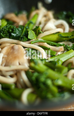Mushroom and Broccoli Stir - Stock Photo