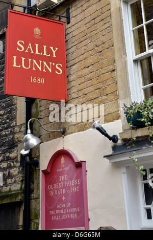 Sally Lunn's, home of the Sally Lunn bun in Bath, Somerset, England - Stock Photo