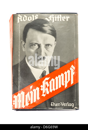 Outside sleeve of the hardback book Mein Kampf by Adolf Hitler - 1939 edition - Stock Photo