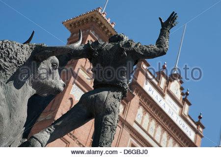 Statue Plaza de Toros de las Ventas Madrid Spain - Stock Photo