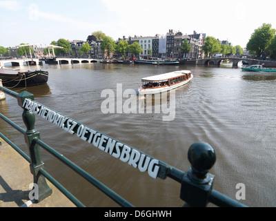 Amsterdam, The Netherlands, the railing of Frans Hendriksz Oetgensbrug - Stock Photo