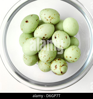 Chocolate mini eggs in a bowl - Stock Photo